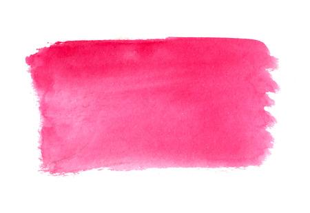 추상 브러쉬 선, 핑크 수채화 배경, 벡터 일러스트