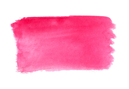 Abstracte penseelstreken, roze aquarel achtergrond, vector