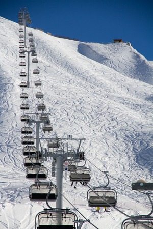 chairlift: Chairlift in a ski resort Krasnaya Polyana. Sochi, Russia