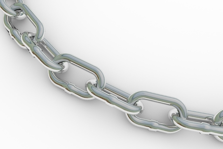chained link: Metal chain, isolated on white background