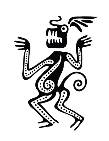 mesoamerican: Ornament in maya style, vector illustration