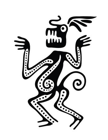 toltec: Ornament in maya style, vector illustration