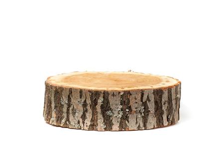 Dwarsdoorsnede van boomstam, geïsoleerd op een witte achtergrond Stockfoto - 41629010