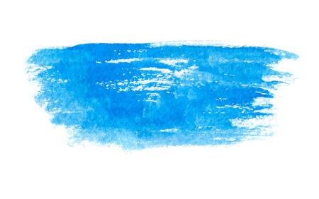 Blue watercolor brush strokes, vector illustration Illustration