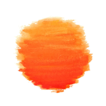 watercolor sun, vector illustration, isolated on white background Ilustrace
