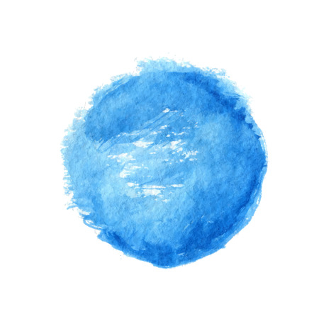 Blue watercolor circle element, vector illustration Ilustrace