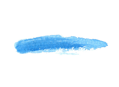blue watercolor brush stroke, vector element for your design