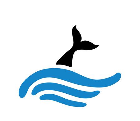 fishtail: fish in water, vector  illustration