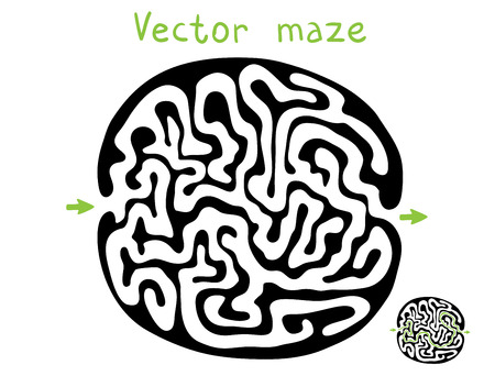 laberinto: Negro laberinto vector, ilustraci�n laberinto