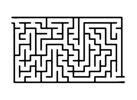 Black vector maze, labyrinth illustration