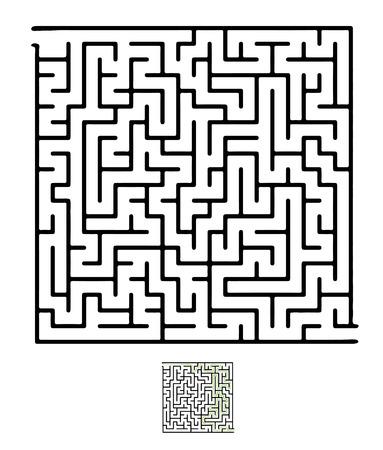 complexity: Black vector maze, labyrinth illustration