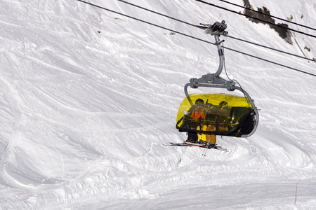 chairlift: Chairlift in a mountain ski resort