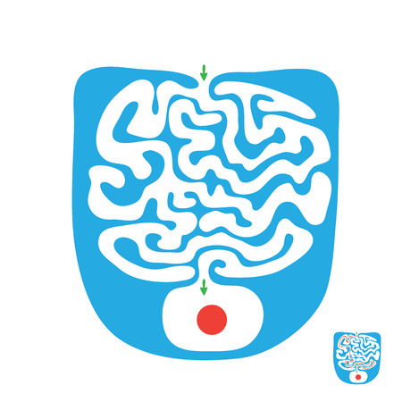 childish: Vector childish maze,  labyrinth illustration