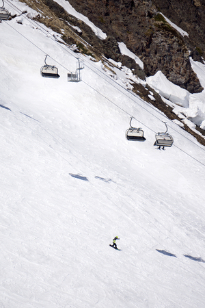 wintersport: Chairlift on a mountain ski resort