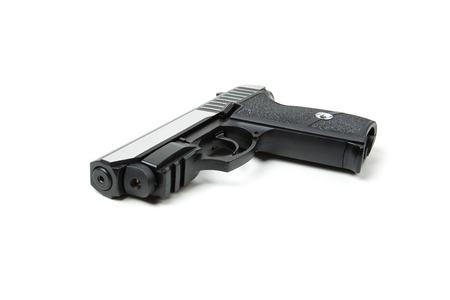 shot gun: Isolated gun on white background Stock Photo