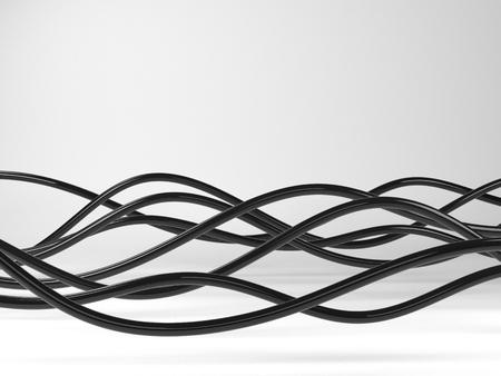 3D-Illustration Von Violett Elektrischen Drähten Oder Abstrakten ...