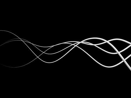 3D-Abbildung Der Weißen Elektrischen Leitungen Oder Abstrakten ...