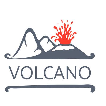 volcano mountain erupting: Volcano eruption