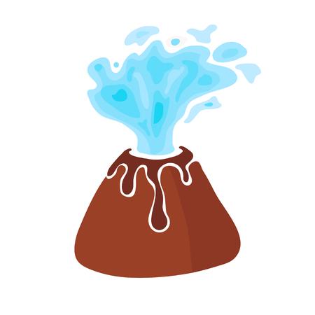 steam jet: Water geyser