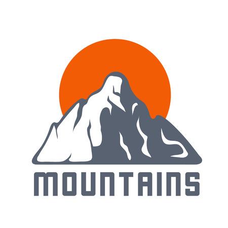 mountaintop: Mountain landscape vector