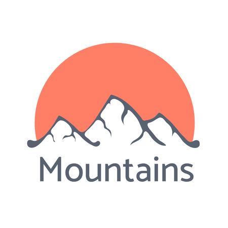 moutain: Mountain landscape vector