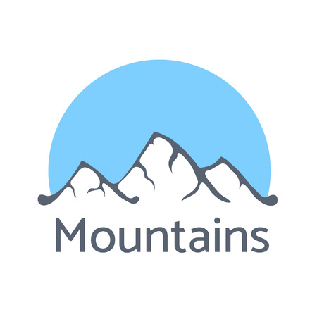 moutain climbing: Mountain landscape vector