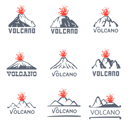 Erupción del volcán del vector