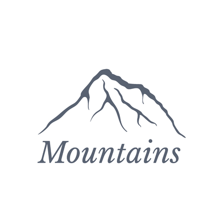 moutain climbing: Mountain landscape, vector illustration Illustration