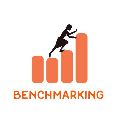 concept de benchmarking, vecteur icône à propos de référence.