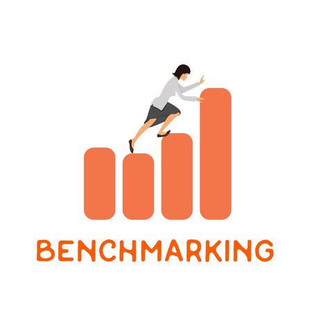 benchmarks: Benchmarking concept, vector icon about benchmark.