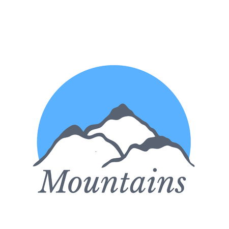 alpinism: Mountain landscape, vector illustration Illustration