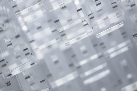 Abstract high-tech background. Details of transparent plastic or glass. Laser cutting of plexiglass. Reklamní fotografie
