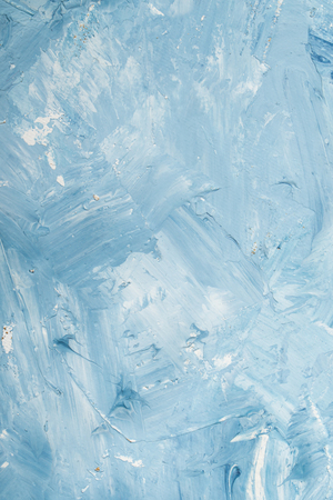 Artistic abstract oil white and blue painted background. Texture, backdrop.