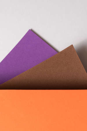 Colored sheets of paper. Color background with copyspace. Reklamní fotografie