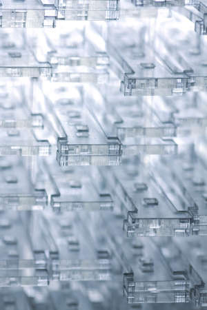 Abstract high-tech background. Details of transparent plastic or glass.
