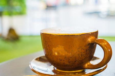 acidity: Closeup , A cup of cappuccino Stock Photo