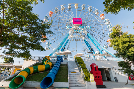 newest: Phetchaburi, Thailand - Dec 24: The Santorini Park, Thailand newest an amusement at Cha-Am on Dec 24, 2016 in Phetchaburi, Thailand Editorial