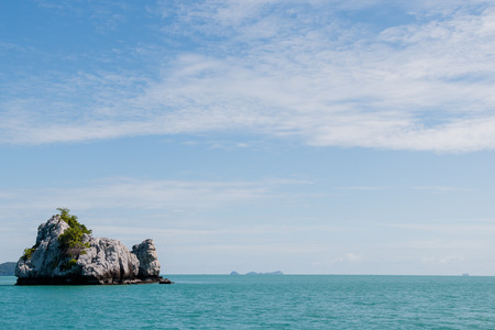 Views of the sea and the hills at Koh Samui, Thailand