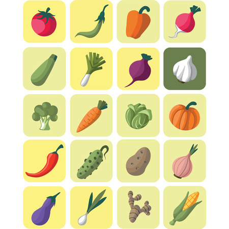 This is a vegetables ison set