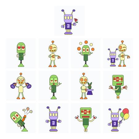 squib: Cute robot characters activities set