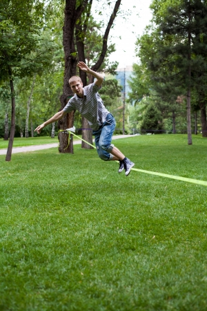 once: Once in the park slackline