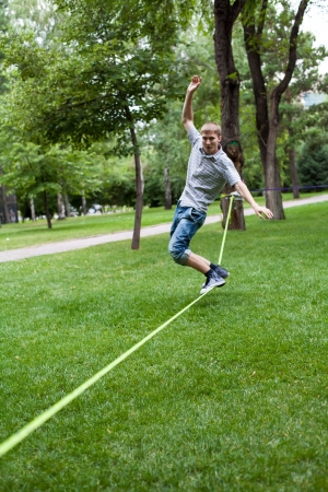 Once in the park slackline  photo