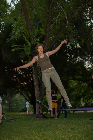 Once in the park slackline