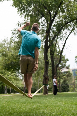 cling: Once in the park slackline