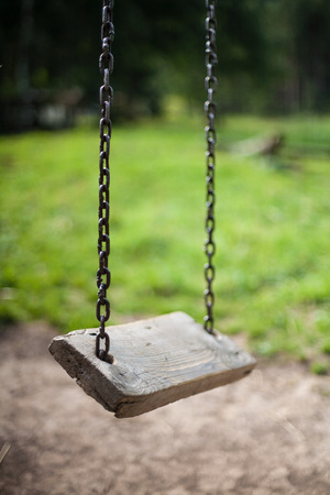 Empty swing photo