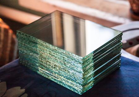 Texture of broken glass photo