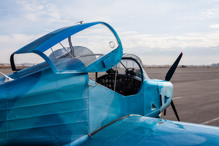 Small blue plane photo
