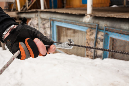 old-fashioned ski equipment photo