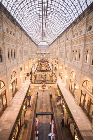 Chic interior shopping complex