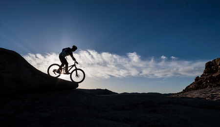 unearthly: Biking for a wonderful wonderful stone for - unearthly landscapes Stock Photo